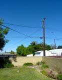 Garden Eysore, Bad View, Telephone Pole Landscaping Network Calimesa, CA