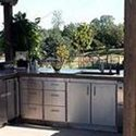 U shaped outdoor countertop