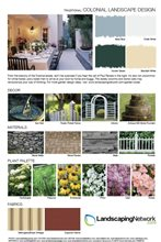 Landscape Design Sheet Colonial Landscape ,