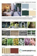 Landscape Design Sheet Colonial Landscape