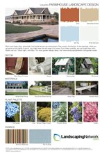 Farmhouse Landscape Design Style Sheet