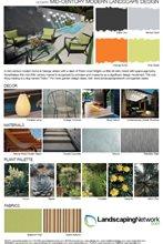 Mid-Century Landscape Design Style Sheet
