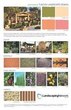 Landscape Design Sheet Tuscan Landscape ,