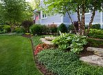 Landscape Bed, Groundcover, Hosta Garden Design Grant & Power Landscaping West Chicago, IL