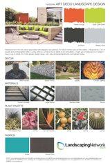 Landscape Design Sheet Art Deco Landscape ,