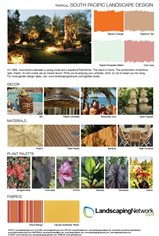 Landscape Design Sheet South Pacific Landscape ,