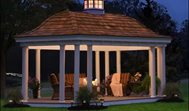 Elongated Gazebo, Cedar Shake, Copper Cupola GazeboCreations.com Gibsonia, PA
