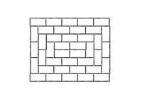 Brick Pattern, Running Bond Variation Landscaping Network Calimesa, CA