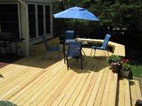 pressure treated deck