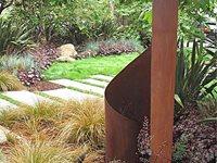 Weathered Steel Garden Art