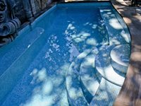 Glass Tile Pool Cipriano Landscape Design Mahwah, NJ