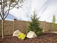 Light Weight Concrete Fencing