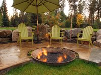 Recycled Fire Pit Fire Pit Copper Creek Landscaping, Inc. Mead, WA