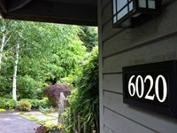 Lighted Address Sign