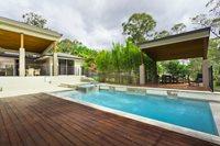 Modern Pool, Ipe Pool Deck Swimming Pool Landscaping Network Calimesa, CA