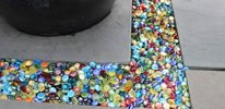Colorful Glass Pebbles