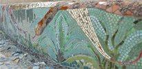 colorful mosaic walls