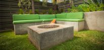 Square Fire Pit, Modern Fire Pit