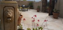 peaceful and private courtyard