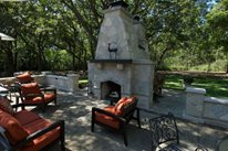 Double Outdoor Fireplace Outdoor Fireplace Breckenridge Landscape New Berlin, WI