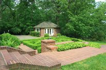 Formal Rear Garden in Knoxville