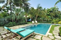 Tropical, Pool, Chaise Lounges, Palms, Green Foodie Backyard Craig Reynolds Landscape Architecture Key West, FL