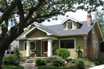 Craftsman Curb Appeal Front Yard Landscaping Harmony Design Northwest Portland, OR