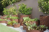 Pipe Planters Garden Design Z Freedman Landscape Design Venice, CA