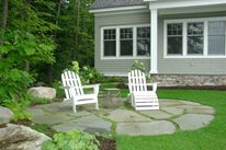 Small Circular Stone Patio Northeast Landscaping Belknap Landscape Co., Inc. Gilford, NH