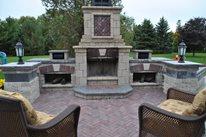 Backyard Fireplace Kit Outdoor Fireplace OGS Landscape Services Whitby, ON