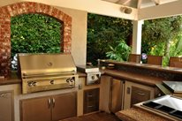 Backyard Kitchen And Bar Outdoor Kitchen The Green Scene Chatsworth, CA