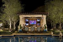Outdoor Bar Outdoor Kitchen AMS Landscape Design Studios Newport Beach, CA