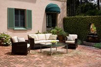 Large Brick Patio, Aged Brick Patio Grace Design Associates Santa Barbara, CA
