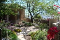 Garden Walkway Casa Serena Landscape Designs LLC Las Cruces, NM