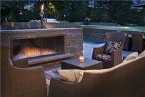Low Outdoor Fireplace Zaremba and Company Landscape Clarkston, MI