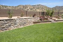 Manufactured Retaining Wall, Desert Grass WaterQuest, Inc. Albuquerque, NM