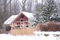 Snow Covered Landscape, Winter Garden Blue Ridge Landscaping Holland, MI