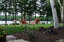 Outdoor Seating Area Swimming Pool Belknap Landscape Co., Inc. Gilford, NH