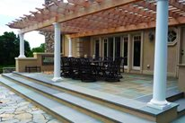 Patio Cover Columns Tropical Landscaping Christensen Landscape Services Northford, CT