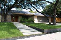 Modern Front Yard Front Yard Landscaping Austin Outdoor Design Austin, TX