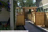 Wood Garden Arbor Northern California Landscaping Garden Planning Services, LLC Hillsboro, OR