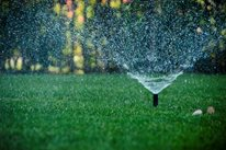 Sprinkler Spray Retaining and Landscape Wall Landscaping Network Calimesa, CA