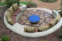 Built In Fire Pit Benches San Diego Landscaping Promised Path Landscape Inc. Chula Vista, CA