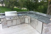 Buitl In Grill Deck OGS Landscape Services Whitby, ON