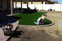 Installing Turf Aloha Landscape Murrieta, CA