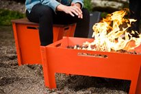Aluminum Fire Pit Groovebox Modern Furniture Savannah, GA