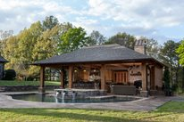 Rustic Pool House Fire Pit Outdoor Solutions Brandon, MS