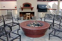 Outdoor Fireplace Mark Concrete ,