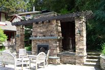 Outdoor Fireplace Stonewood and Waters Mendon, NY