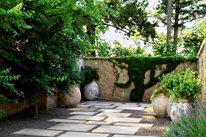 Mediterranean Garden, Terra Cotta Urns